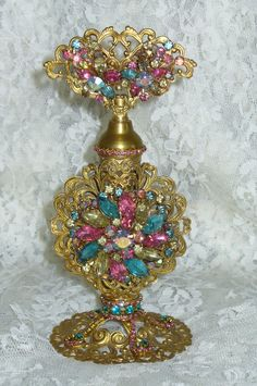 Antique Bejeweled Perfume Bottle 13 By Debbie Del Rosario