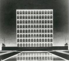 Colosseo Quadrato - Palazzo della Civiltà Italiana, EUR, Rome, Italy, 1942 World Fair
