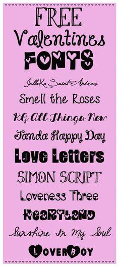 Free Valentine Fonts