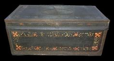 Decorative Continental Painted Trunk, circa 1870