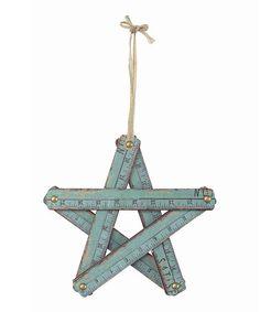 Love this Blue Wood Ruler Star on #zulily! #zulilyfinds