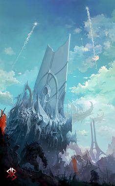 old kingdom, Byung-ju Bong on ArtStation at https://www.artstation.com/artwork/5dbYW
