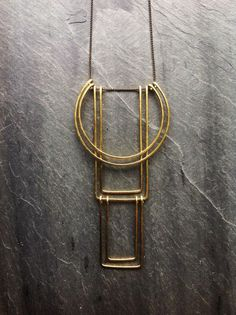 Geometric Totem Necklace  By Loop Jewelry by LoopHandmadeJewelry