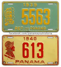 Placas de Panama (License plates)