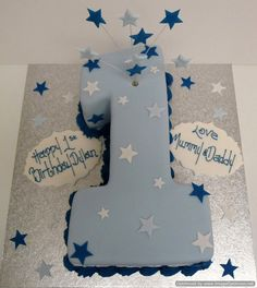 birthday cakes for boys Boys 1st Birthday Cake, Birthday Cake Pictures, First Birthday Parties, 1st Birthday Party Ideas For Boys, Number One Cake, Birthday Cake Decorating, Cakes For Boys, Cake Kids, 1st Birthdays