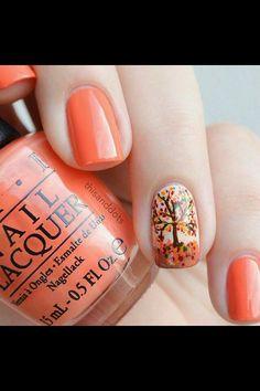 OPI autumn nail art
