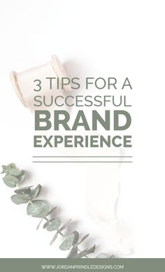 3 Tips for a Successful Branding Experience | Are you overwhelmed at the idea of hiring a designer? Maybe you don't know where to start or how to prepare. Learn helpful tips and more at www.jordanprindledesigns.com