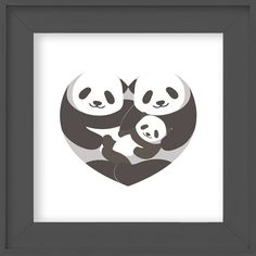 Panda nursery art, Instant Download, 10x10, Panda nursery wall art, Panda family art, Family wall art, Modern nusery art, Panda print This tender panda print of a family of 3 will melt your heart. Coordinate with the rest of our Panda collection available in my shop. Modern and
