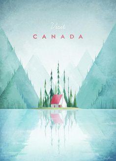 Canada par Henry Rivers en Impression sur toile   Achetez en ligne sur JUNIQE ✓ Livraison fiable ✓ Découvrez de nouveaux designs sur JUNIQE !