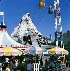 The Matterhorn, June 1969 Skyway! I remember when it looked like this in the late Disney Fun, Disney Magic, Disney Parks, Walt Disney, Disney Stuff, Disneylândia Vintage, Vintage Photos, Mickey Mouse Sayings, Parade's End