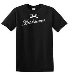 Bridesman original design cotton t-shirt  heavy cotton