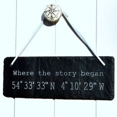 personalised location engraved in slate by winning works | notonthehighstreet.com