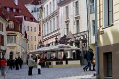 One can imagine that in high season, when the cruise ships stop in Tallinn, this street would be very crowded! Tallinn, Estonia