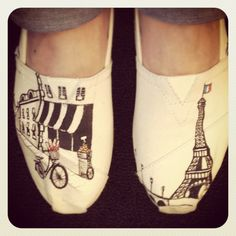 Officially #mine!!! New faves. Paris TOMS by Lamaland! http://www.etsy.com/shop/LamaLand