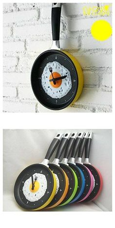 6a9331db1   21.99  Wall Hanging Fry Pan Shaped Clock with Omelette (Random Color)