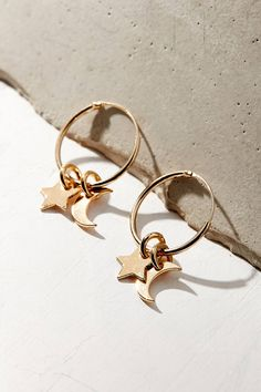 Shop MALAIKARAISS Star + Moon Charm Hoop Earring at Urban Outfitters today. We carry all the latest styles, colors and brands for you to choose from right here.