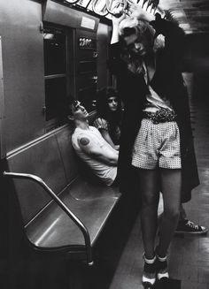 subway, black and white, photography
