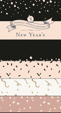FREE Confetti Patterns for New Year's - Designs By Miss Mandee. Use these pretty patterns to dress up any New Year's design. Great for printable designs as well as web backgrounds.