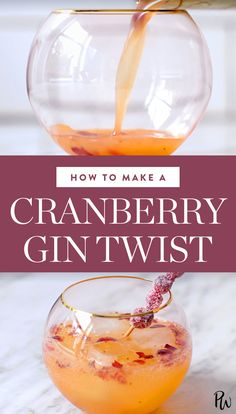 How to Make a Cranberry Gin Twist