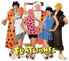 The Flintstones group Halloween costumes-Yes!