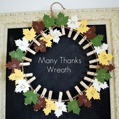 Thanksgiving Countdown Wreath (tutorial)