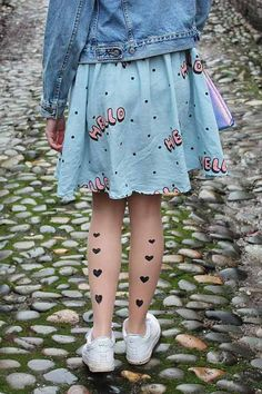 Heart Tights Outfit