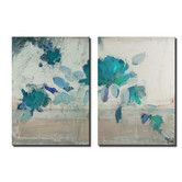 Found it at Wayfair - Painted Petals IVB 2 Piece Graphic Art on Wrapped Canvas Set