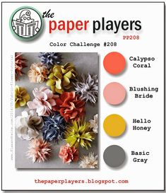 The Paper Players: Paper Players Challenge #208 - A Color Challenge from Nance