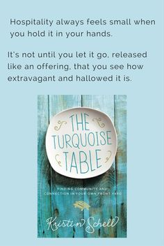"""Book review on hospitality: """"The Turquoise Table"""""""