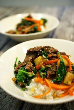 Keittotaiteilua: Korealainen nauta-riisikulho