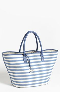 Charlotte Ronson 'Herringbone Stripe' Canvas Tote available at #Nordstrom