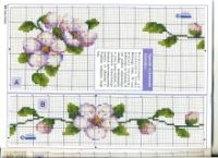 Cross-stitch Floral Tablerunner, part 2..  color chart on part 1...   Gallery.ru / Фото #6 - ***** - celita