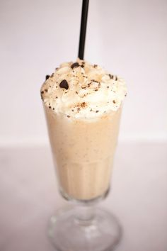 "Flying Gorilla: A ""Kicked-Up"" chocolate banana milkshake with Godiva chocolate and banana liqueur. Sip it up!"