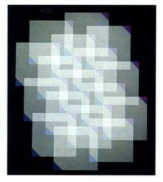 """Gottfried Jäger """"Multiepleoptik"""" (1973) fotograma sobre emulsión de color. Del libro de Joan Fontcuberta """"Fotografía, conceptos y procedimientos"""""""