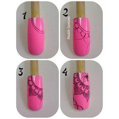 Passo a passo espero que gostem!!! ❤️ Henna Nail Art, Henna Nails, Nail Designs Spring, Nail Art Designs, Nail Time, Easter Nails, Arte Floral, Flower Nails, Nail Tutorials