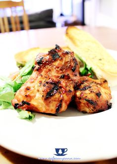 Tangy honey and mustard chicken thighs