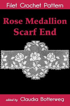 Rose leaves decorate the edges of this scarf end pattern, and an oval medallion in the center makes it unique. You can use this pattern to beautify the end of a table runner or dresser scarf, or leave the top oval off for a pretty valance. Designed in 1925 by Olive F. Ashcroft, it is very