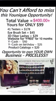 Younique 3-D Fiber Lash Mascara!!! 300% increase in eyelash volume using a two step wand kit of gel & green tea fibers! Only $29 for the kit!!! Join my team with a fast growing cosmetic company, designed around using social media and virtual on-line parties, to be able to have parties and sales 24/7 !!! (609)204-4277 https://www.facebook.com/groups/YouniqueKathysDaySpa/ https://www.youniqueproducts.com/KathysDaySpa