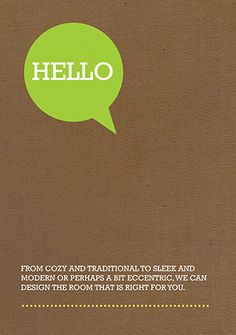 A5 flyer design - Hello (available to personalise on our design online system)