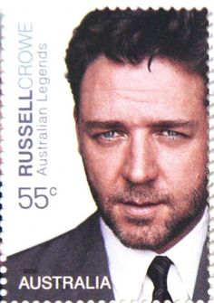 Australia postage Stamp with Russell Crowe