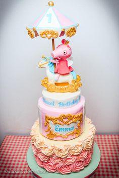 Peppa Pig Carousel Cake - Cake by JackiesHomeBakes