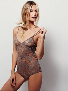 Free People Lace Bodysuit, $38.00