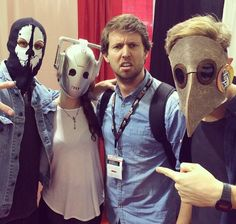A Doctor a day: Matt Smith with Jon Heder and Arthur Darvill at Fan Expo