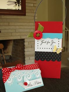 gift bag in bold colors!