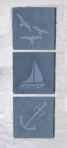 Greenkey Small Coastal Slate Wall Art