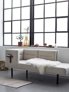 A daybed is an easy way to update and add instant glamour and character to a room. LEAN has great attention to detail, a clean look and crisp feel! Design by Bloomingville