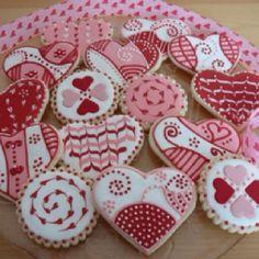 Cookies tono fuccia y rosa