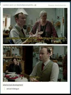 This is why I love Sherlock- kiddish dialogue like this