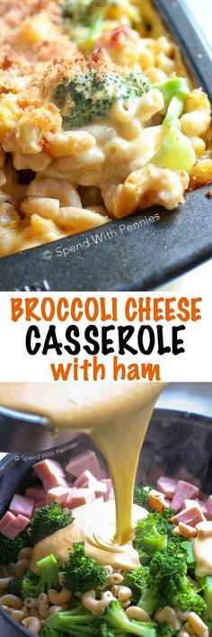 This Broccoli Cheese Casserole is a family favorite! Pasta broccoli and tender ham is tossed in a quick and easy from s