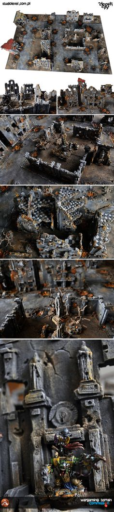 """!!! FOR SALE !!! exclusive KINGS DEATHCITY 72""""x48"""" GAMEBOARD + BUILDINGS and TERRAIN [2016] .. more info on eBay !!"""
